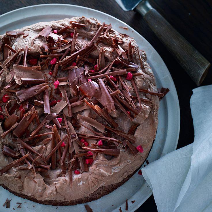 Succémoussetårta med choklad – direkt ur frysen