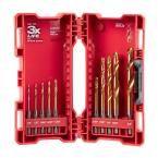 Milwaukee Shockwave Titanium Red Helix Drill Bit Set (10-Piece)