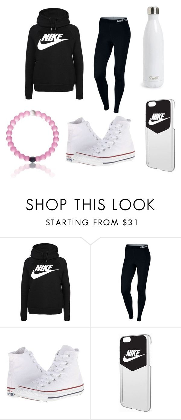 """how to wear nike"" by kmmzki ❤ liked on Polyvore featuring NIKE, Converse and S'well"