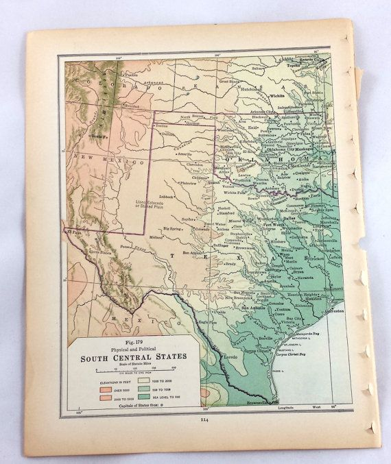 Best Maps Images On Pinterest Road Maps Texas Maps And Texas - South central us map