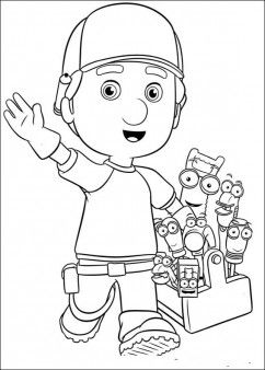 handy manny coloring pages - Handy Manny Hammer Coloring Pages
