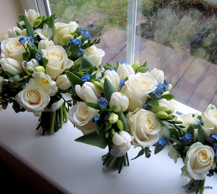 Bouquets with roses, tulips and anemones www.theflowersmiths.co.uk