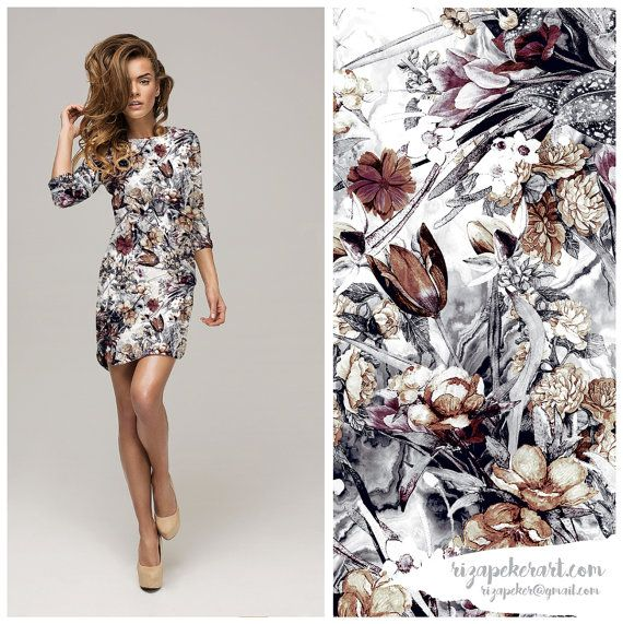 Winter Garden Seamless Floral Pattern for Fashion by rizapekerart #pirnts #floral #fashion #digital #art