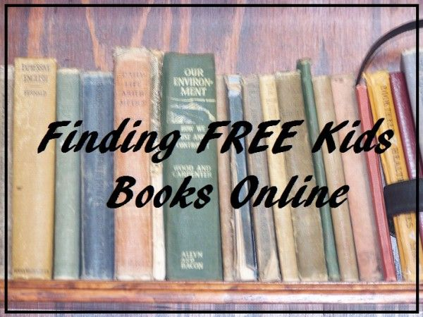 How to Find Free Kid's Books Online
