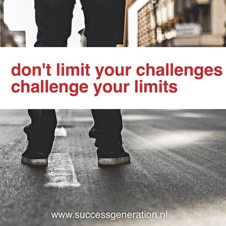 Don't limit your challenges Challenge your limits #success #daily #focus