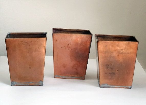 set of 3 vintage smith hawken copper planters by pattispolkadots sp su pinterest copper. Black Bedroom Furniture Sets. Home Design Ideas