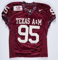 1996 Ed Jasper Texas A&M Aggie Heart Award Trophy & Game Worn Jersey