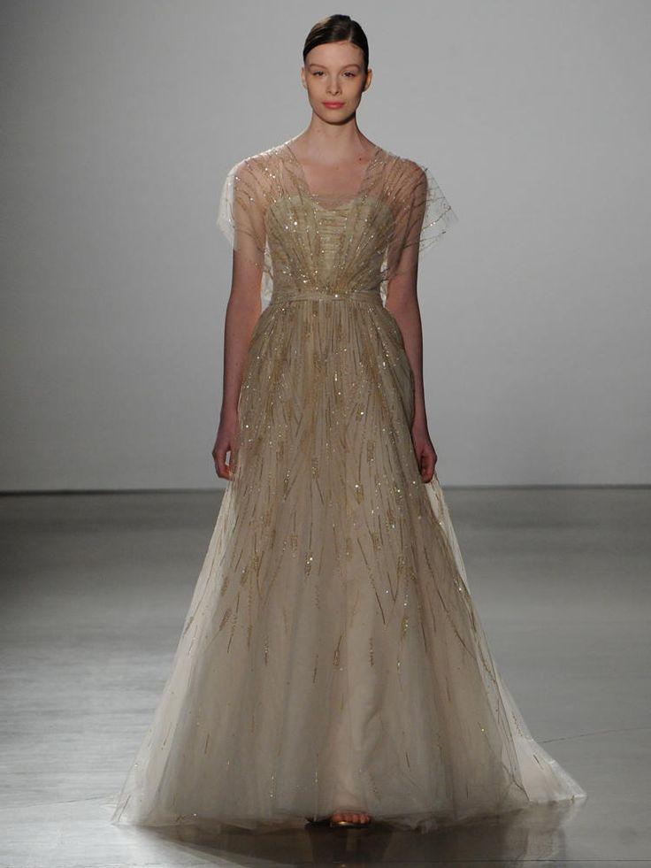 21 best alyne spring 2016 images on pinterest spring for Gold beaded wedding dress