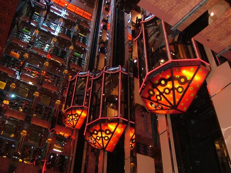 Costa Mediterranea Atrium and elevators