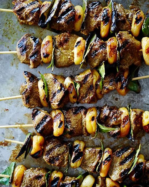 South African Lamb & Apricot Skewers a.k.a. Sosaties via Sweet Paul Magazine Summer Issue 2014