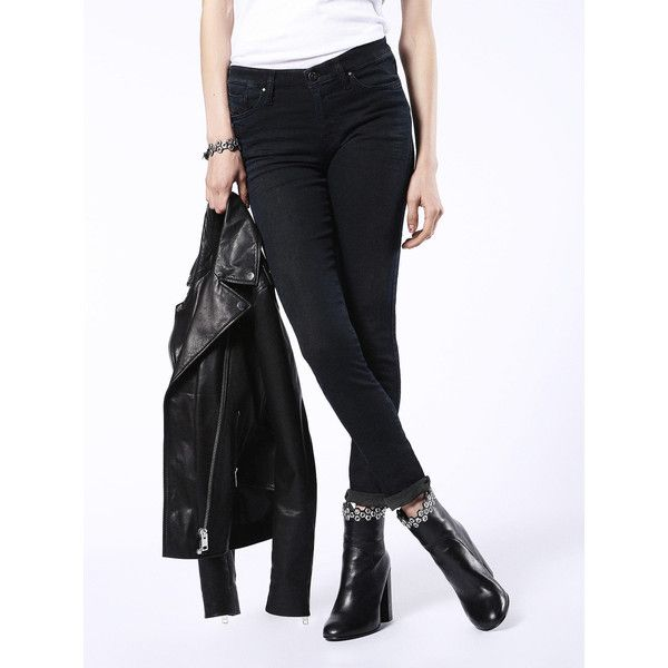 Diesel SKINZEE-NE 0669L Super Skinny ($248) ❤ liked on Polyvore featuring jeans, black jeans, denim, super skinny, women, skinny fit jeans, skinny jeans, super skinny jeans, diesel jeans and skinny leg jeans