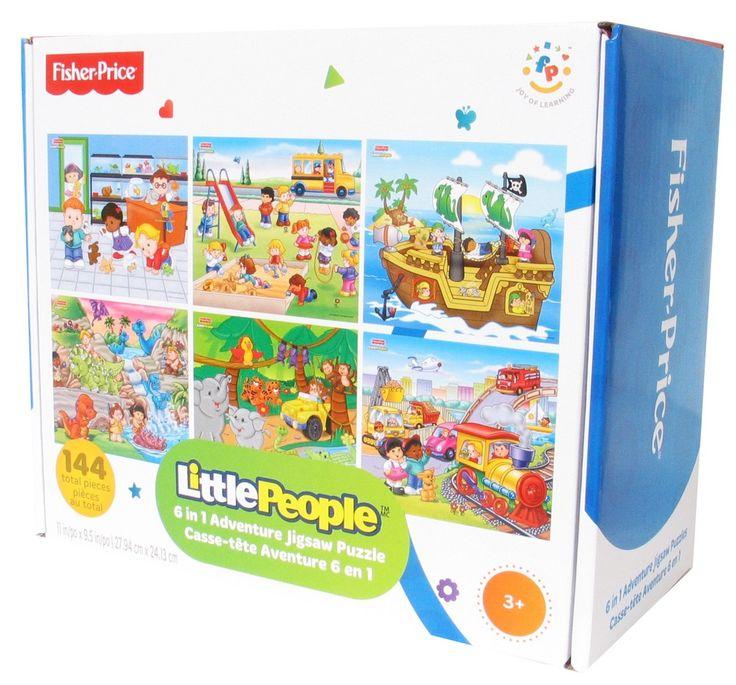 Casse-tête aventure 6-en-1 - 6 casse-têtes de 24 morceaux chacun. -  Age : 3 ans et plus -  Référence : 034683 #Jeux #jouets #Enfant #Cadeau #Vacances #famille #Puzzel #CasseTete