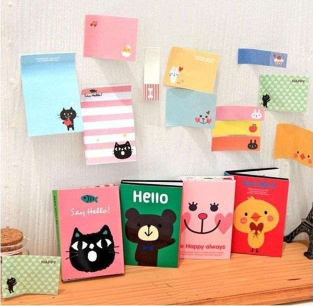 10pc/lot Free Shipping New cute cartoon Notepad,4 designs Paper sticky note/student(kids) staionery gift