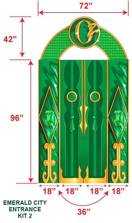 emerald city wizard of oz gate ideas - Google Search