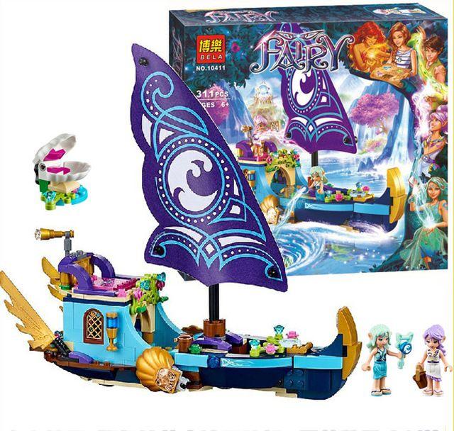 311pcs/set Bela 10411 Girl Naida's Epic Adventure Ship Model Building Bricks Blocks DIY Educational toys Compatible Legoe Elves