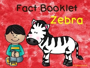 This non-fiction book on zebras is a great resource to use for doing a research project on the zoo animals/mammals with your pre-k/kindergarten class. Included in this product is a black and white informational book about zebras, worksheets for note-taking and two choices in research forms to be filled out by the child.