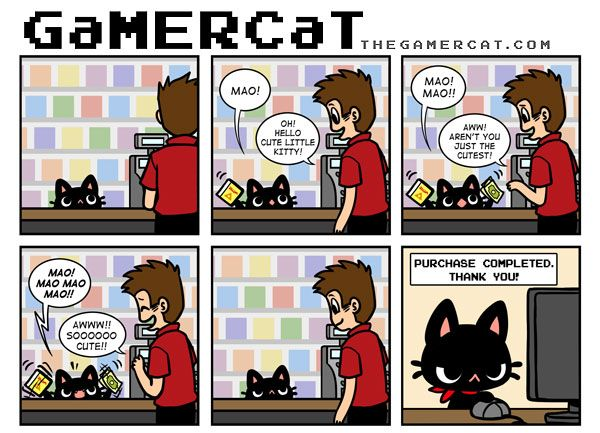 This is why we can buy games online! FOR ALL THE GAMERCATS!!!