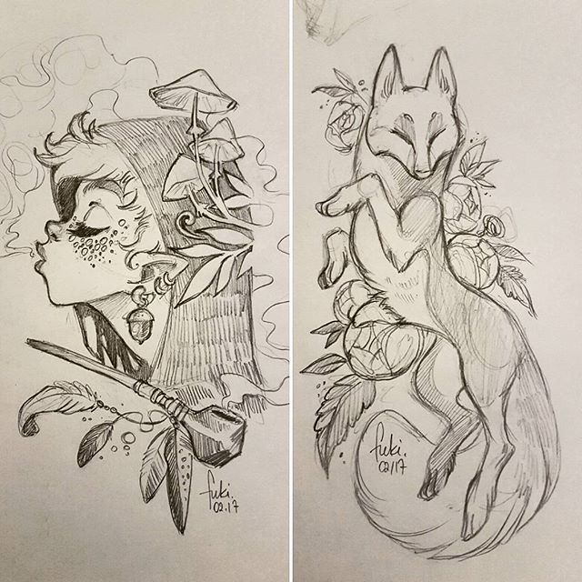 Sketching flash designs that will be available 4-5 March at Tattoo Tea Party, Manchester UK