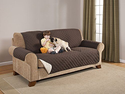 Home Accent Two Tone Reversible Furniture Protector Chocolate Tan