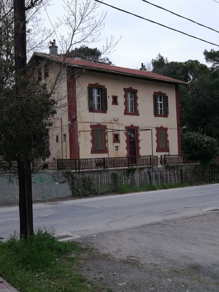 Old train station in edessa city