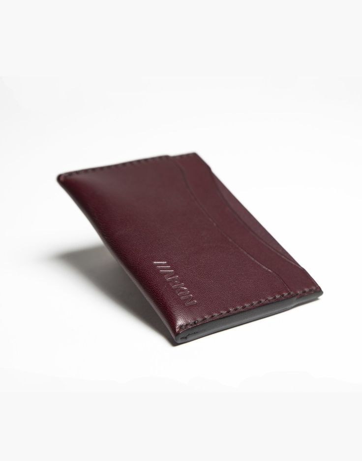 Arkin Leather Dekker Wallet - Wine