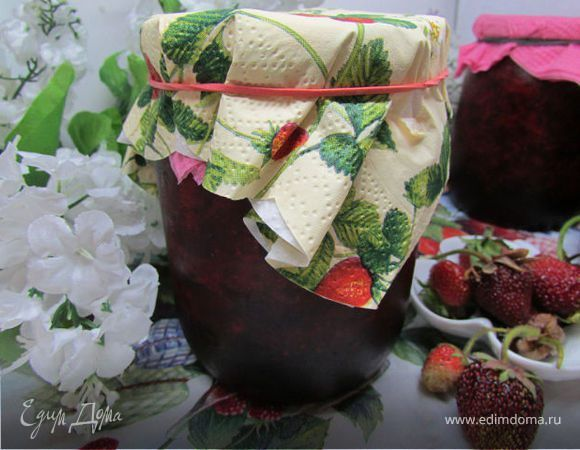 Свежая клубника с сахаром (заготовка на зиму). Ингредиенты: клубника, сахар
