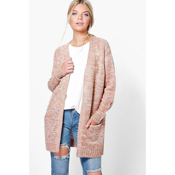 Boohoo Grace Soft Knit Cardigan ($30) ❤ liked on Polyvore featuring tops, cardigans, pink, white knit top, crochet tops, boyfriend cardigans, pink knit cardigan and white cardigan
