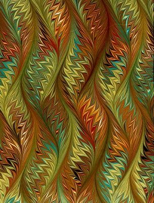 Marbled paper by Antonio Vélez Celemín, Spain