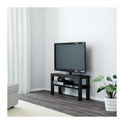 IKEA - LACK, テレビ台, ブラック, , バックパネルがないのでケーブルの処理が簡単です