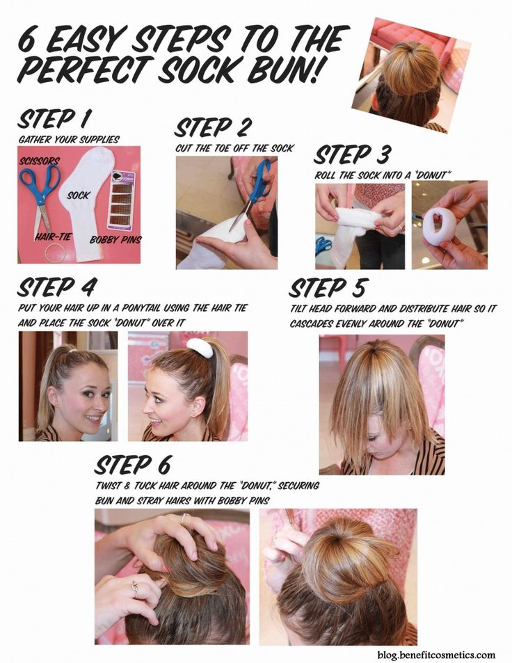 Perfect Sock Bun in 6 Easy Steps - Hairstyles and Beauty Tips