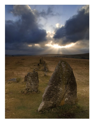 Merrivale stones, Dartmoor National Park, Devon, UK