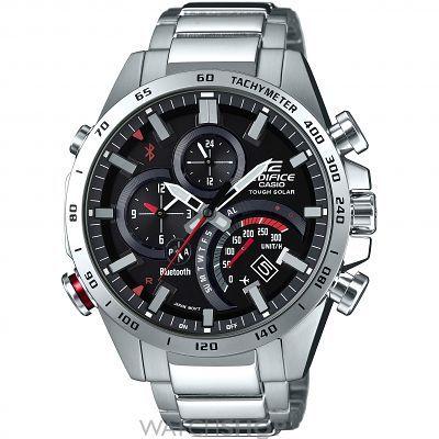 Mens Casio Edifice Bluetooth World Traveller Alarm Chronograph Solar Powered Watch EQB-501XD-1AER