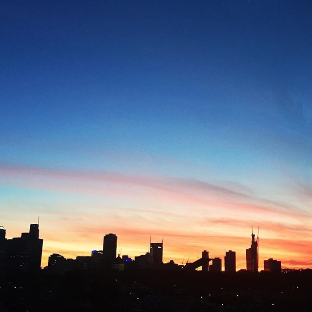 Rooftop sunset at @nakedforsatan_ with @_maddyk