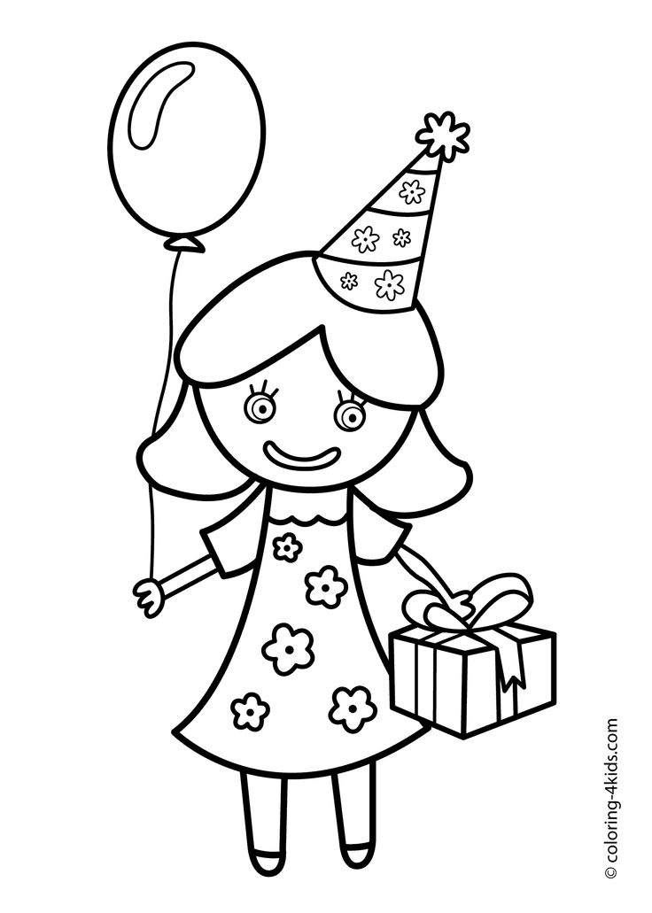 coloring pages brithday - photo#12
