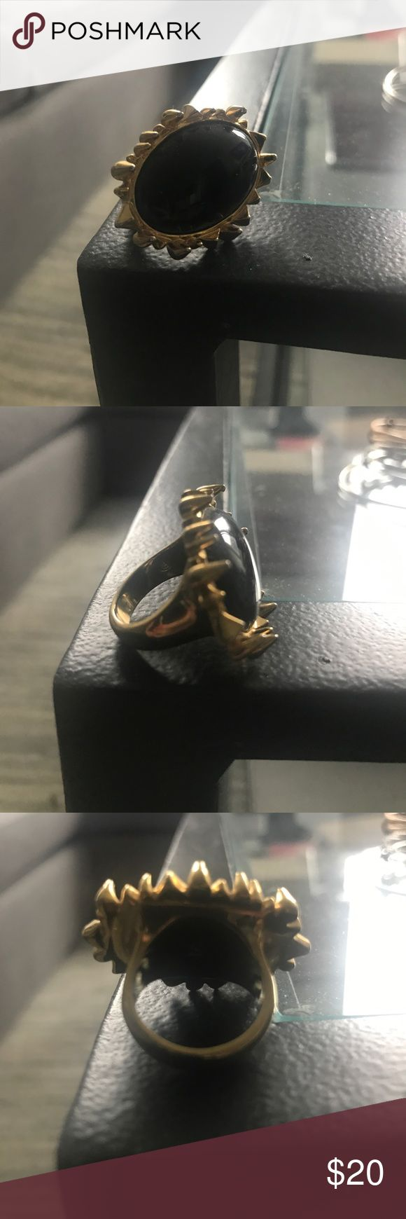 House of Harlow size 6 ring Black and gold sunburst ring - tons of compliments! House of Harlow 1960 Jewelry Rings