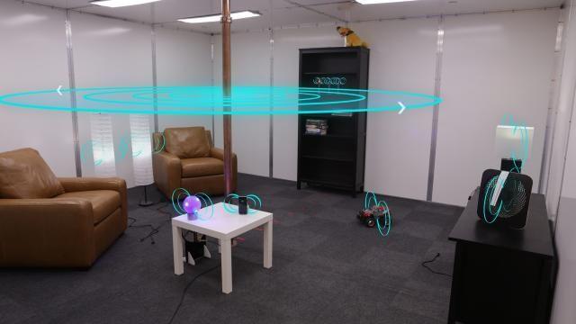 Disney maakt kamer waarin apparaten draadloos opladen Disney heeft een ruimte ontwikkeld waarin apparaten draadloos opgeladen worden waar ze zich binnen de ruimte ook bevinden