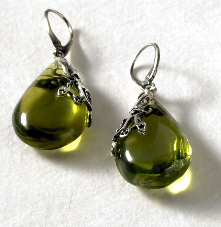 Caribbean Amber Earrings, Earrings, Jewelry - The Museum Shop of The Art Institute of Chicago