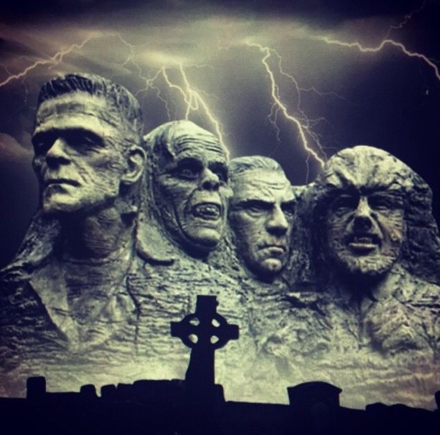 Mt Rushmore - Universal classic monster style
