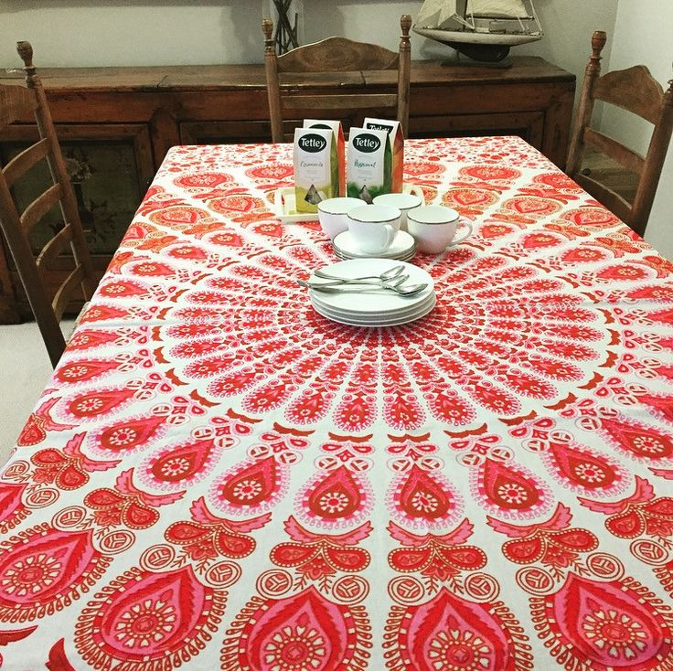 Pink Passion Mandala Tapestry / Tablecloth | The Hues of India