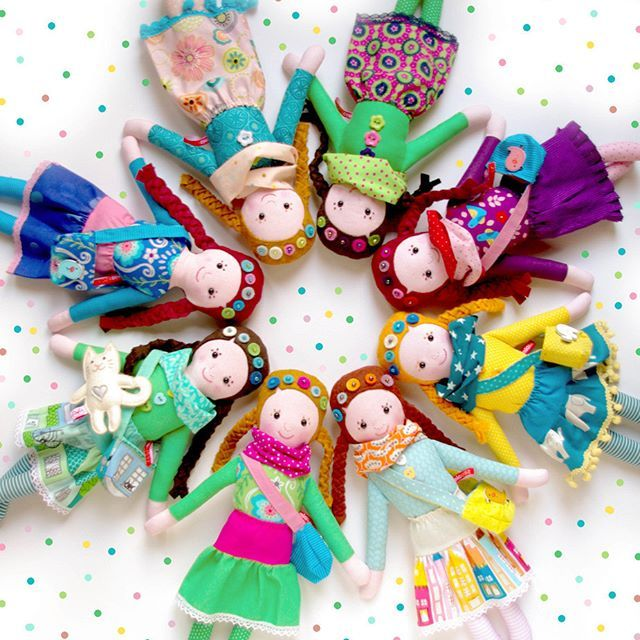 Here are some of my new dollies. All are dress up dolls, so skirt, scarf and bag can be removed and changed. Enjoy them! #miazzzetsyshop #slowfashion #fabrics #handmade #dolls #stuffed #softies #nursery #decoration #kidslove #kidsdecor #kidsroom #etsykids #naptime #madeinhungary #handmadehungary #mik #childhood #art #lessismore #miaszösz