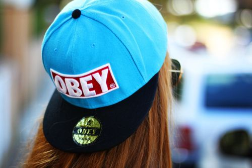 Obey snapback! I'd be matching Cody Simpson ;)