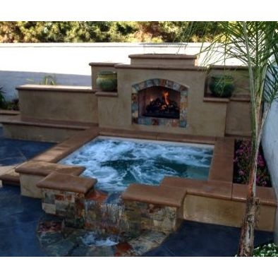 77 best hot tubs & spas images on pinterest | architecture ... - Hot Tub Patio Designs