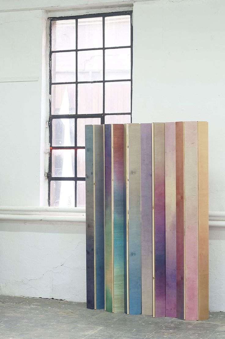Wooden Aquarelle, a colouring technique for wooden surfaces involves clamping wood panels and adding pigmented water. The Warehouse Home team share 3 of his iridescent style designs.