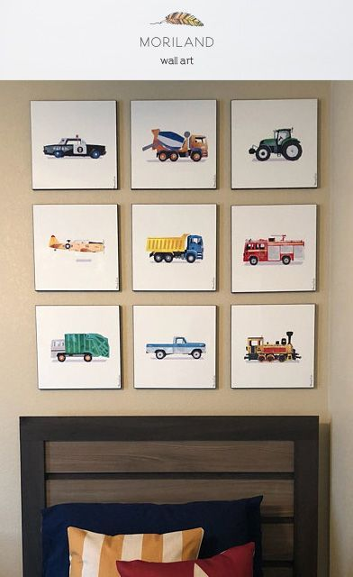Transportation Nursery Decor, Playroom Decor, Steam Locomotive Print, Steam Engine Art, Train Nursery Decor, Train Wall Art, Printable Boys Wall Art, Dump Truck Art Print, Dump Truck Art, Construction Decor, Construction Print, Truck Nursery, Transportation Décor, Cement Truck Art, Cement Mixer Truck, Construction Wall Art, Toddler Boy Room Décor, Police Car Print, Tractor Nursery, Fire Truck Décor, Ford-100 pickup Truck Print, Garbage Truck Themed Room Décor, T-6 Texan Print By MORILAND Art