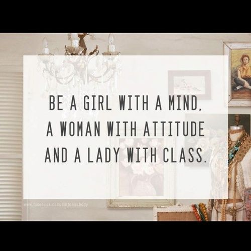 MIND, ATTITUDE, CLASS:
