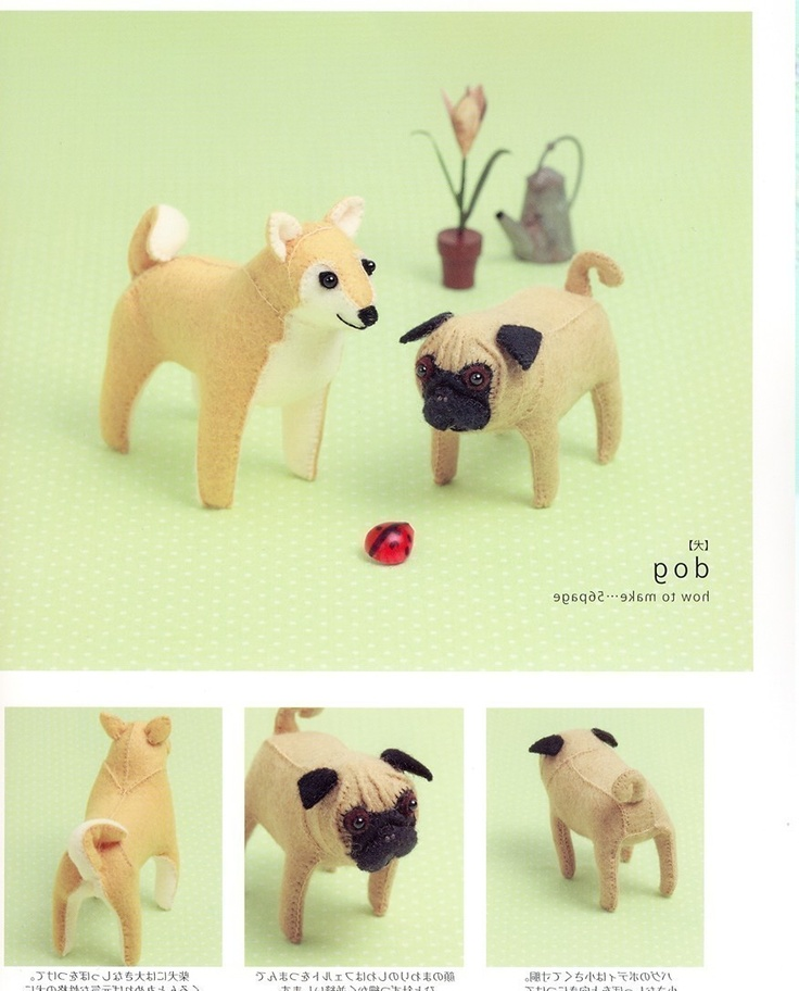 Handmade Felt Animals - Japanese craft book. $24.00, via Etsy.