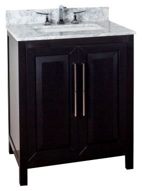 Cade Contempo 30'' vanity with black finish and clean, leading-edge design VAN101-30-T