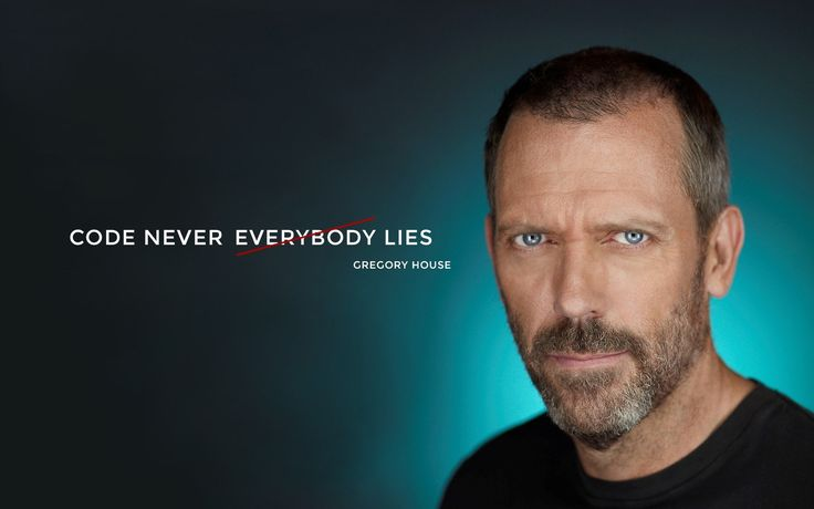 "Remember @Hugh Laurie saying ""Everybody Lies""? Well, #code doesn't!"