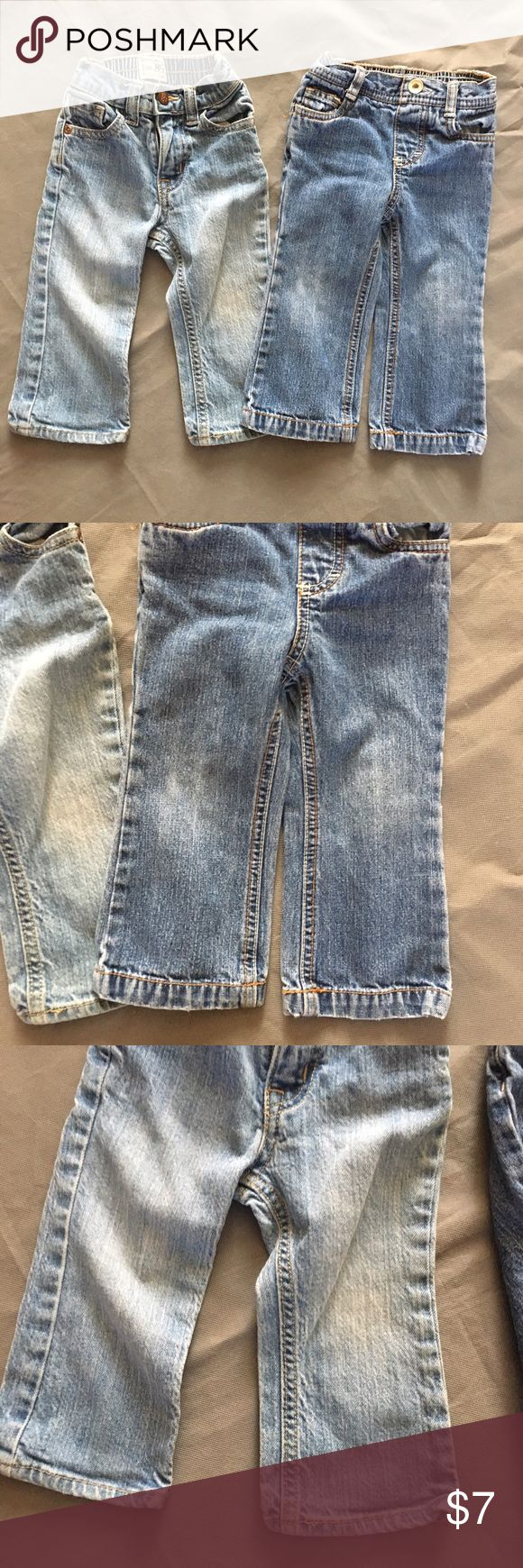2 pairs Girls Jeans 18 months TCP Cherokee Denim Both are size 18 months. In overall good condition with fading from normal wash wear. Check out our closet for great bundle offers. Price firm unless bundled! Children's Place Bottoms Jeans