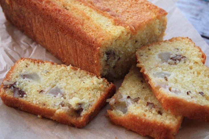 Walnoten peren cake
